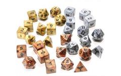 Metal Dice Gaming: 16 mm Antiqued Gold Metal Dice