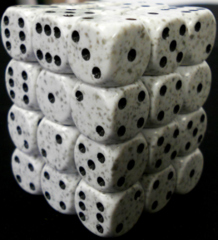 36 Artic Camo Speckled D6 Dice Block