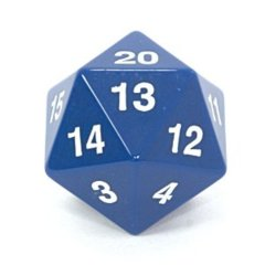 Koplow 55 mm Jumbo Opaque D20 - Blue