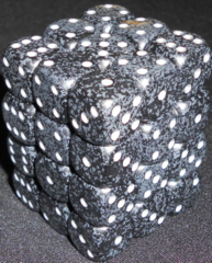 36 Ninja Speckled 12mm D6 Dice Block