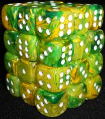 36 Dandelion w/ White Vortex D6 Dice Block