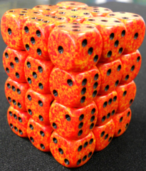 36 Fire Speckled 12mm D6 Dice Block - CHX25903