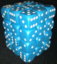 36 Light Blue w/white Opaque 12mm D6 Dice Block - CHX25816