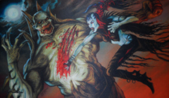 Artists of Magic Series #29 Nosferatu vs ZombieLord By Thomas M. Baxa