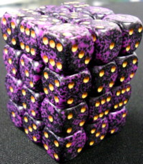 36 Hurricane Speckled 12mm D6 Dice Block