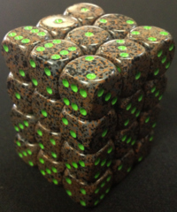 36 Earth Speckled 12mm D6 Dice Block