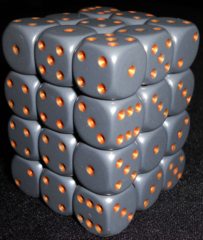 36 Dark Grey w/copper 12mm D6 Dice Block