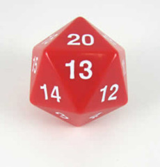 Koplow 55 mm Jumbo Opaque D20 - Red