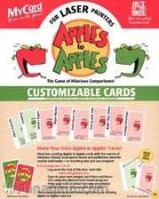 Apples to Apples- Customizable Cards