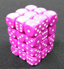 36 Light Purple w/white 12mm D6 Dice Block
