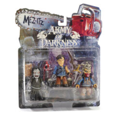 Vintage 2003 Mez-Itz Mezco ARMY OF DARKNESS 3 Pack - Action Figures - Evil Ash