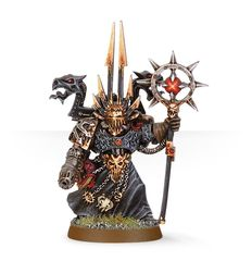 Chaos Space Marine Sorcerer with Force Staff and Plasma Pistol