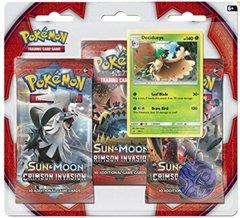 Sun & Moon - Crimson Invasion 3 Pack Blister - Decidueye
