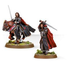 Aragorn the King of Gondor Foot and Mounted