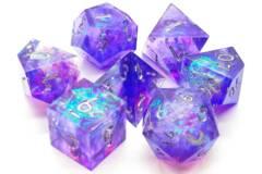 Sharp Edged Dice - Sapphire Burst