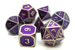 Old School RPG Dice Set: Elven Forged - Purple w/ Gold
