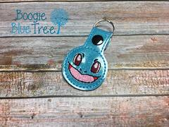 Snap-Tab Keychain Glitter Squirtle