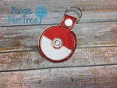 Snap-Tab Keychain Red Pokeball