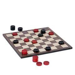Checkers Black/Red Wooden Board Set