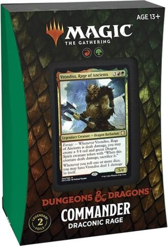 Adventures in the Forgotten Realms Commander Deck: Draconic Rage RG(PREORDER JULY 23)