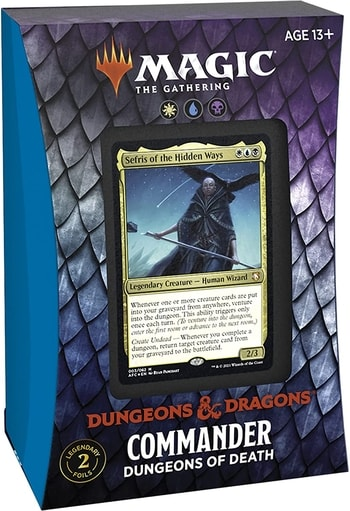 Adventures in the Forgotten Realms Commander Deck: Dungeons of Death WUB (PREORDER JULY 23)