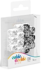 Oakie Doakie Dice - 12mm D6 Positive & Negative, White (14)