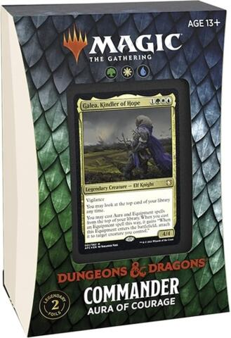 Adventures in the Forgotten Realms Commander Deck: Aura of Courage WUG (PREORDER JULY 23)