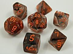 Lab Dice Nebula Copper Matrix/Orange 7 Die Set - CHX30040