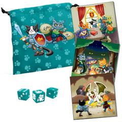 Dungeon Survival Pack: Kitten Adventurers Dice Bag