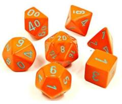 Lab Dice Heavy Orange/Turquise 7 Die Set - CHX30038