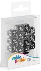 Oakie Doakie Dice - 12mm D6 Positive & Negative, Black (14)