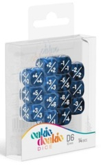 Oakie Doakie Dice - 12mm D6 Positive & Negative, Blue (14)