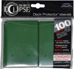 Ultra Pro - Pro Matte Eclipse: Deck Protector 100 Count Pack - Dark Green