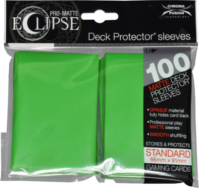Ultra Pro - Pro Matte Eclipse: Deck Protector 100 Count Pack - Green