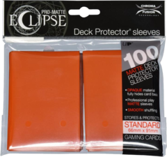 Ultra Pro - Pro Matte Eclipse: Deck Protector 100 Count Pack - Pumpkin Orange