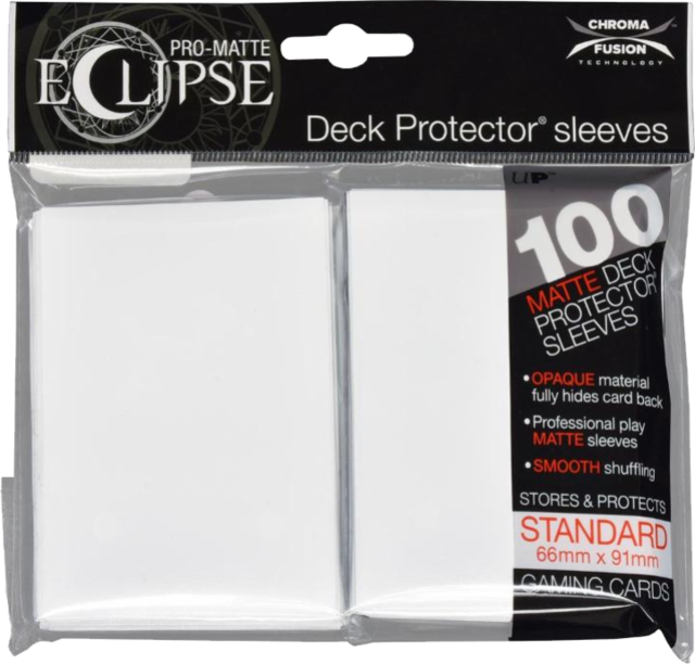 Ultra Pro - Pro Matte Eclipse: Deck Protector 100 Count Pack - White