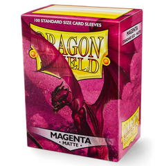 Dragon Shield Sleeves: Matte Magenta (Box Of 100)