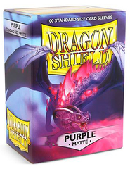 DRAGON SHIELD SLEEVES - MATTE PURPLE (BOX OF 100)