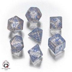 Classic Elven Transparent Blue 7 Dice Set