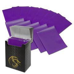 BCW Deck Guards Standard size 80 count Double Matte - Purple