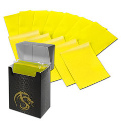 BCW Deck Guards Standard size 80 count Double Matte - Yellow