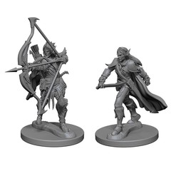Pathfinder Deep Cuts Unpainted Miniatures: Elf Male Fighter