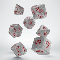 Classic RPG Pearl & red Dice Set (7)