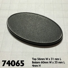 Reaper Base Boss: 60mm x 35mm Oval Gaming Base (10)