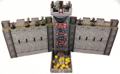 Castle keep Dice Tower and DM Screen Turn Tracker Combo