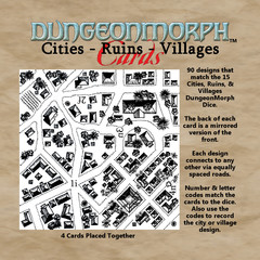 DungeonMorph Cards - Cities, Ruins, Villages