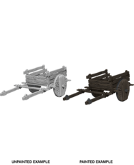 Deep Cuts Unpainted Unpainted Miniatures - 2 Wheel Cart