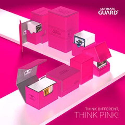 Ultimate Guard FlipNTray Deck Case 100+ Standard Size Xenoskin Pink