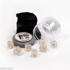 Pizza Dungeon Dice: Lucky - Gem White