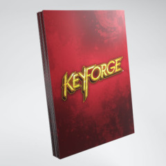 Keyforge Logo Sleeves: Red
